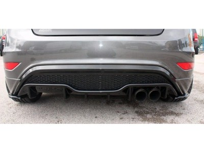 Ford Fiesta MK7 Facelift ST Drag Rear Bumper Extension