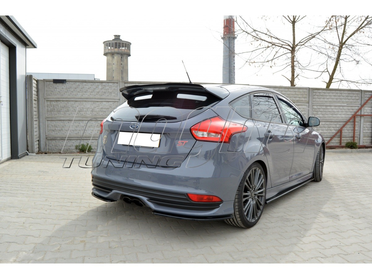 ford focus 3 st facelift mx rear bumper extensions. Black Bedroom Furniture Sets. Home Design Ideas