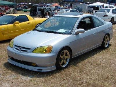 Honda Civic 01-03 Coupe Mugen-Look Front Bumper Extension