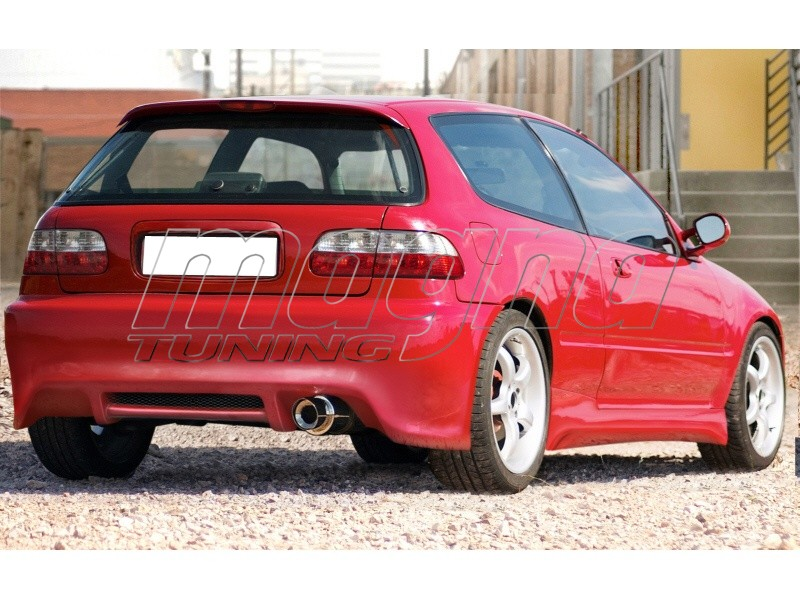 Honda Civic 92 95 J Style Side Skirts Picture 12690