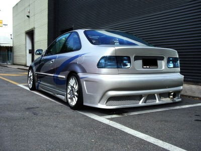 Honda Civic Coupe Oldstyle Rear Bumper