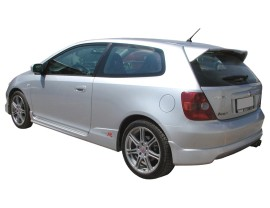 Honda Civic MK7 R-Look Rear Bumper Extension