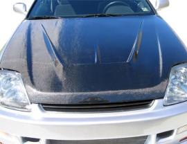 Honda Prelude MK5 Aggressive Carbon Fiber Hood