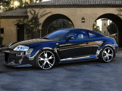 Hyundai Coupe Outrage Seitenwandverbreiterung Hinten