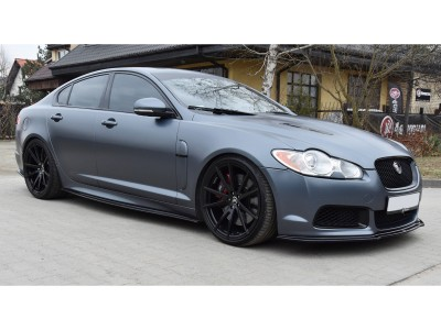 Jaguar XFR X250 Matrix Side Skirt Extensions