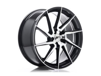 JapanRacing JR36 Gloss Black Machined Face Wheel