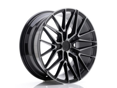 JapanRacing JR38 Black Brushed Tinted Face Wheel