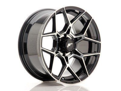 JapanRacing JRX9 Gloss Black Machined Face Wheel
