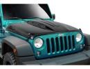 Jeep Wrangler JK Android Carbon Fiber Hood