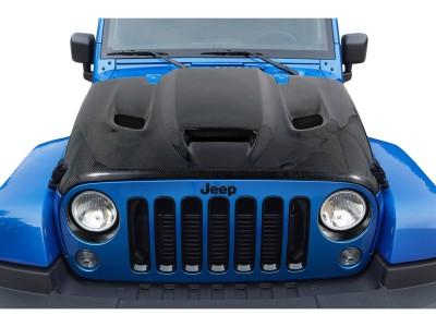 Jeep Wrangler JK Capota Hellcat-Look Fibra De Carbon