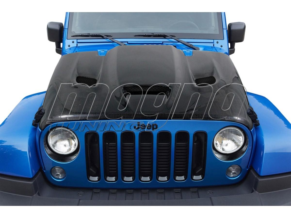 Jeep Wrangler JK Hellcat-Look Carbon Fiber Hood