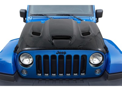 Jeep Wrangler JK Hellcat-Look Carbon Motorhaube