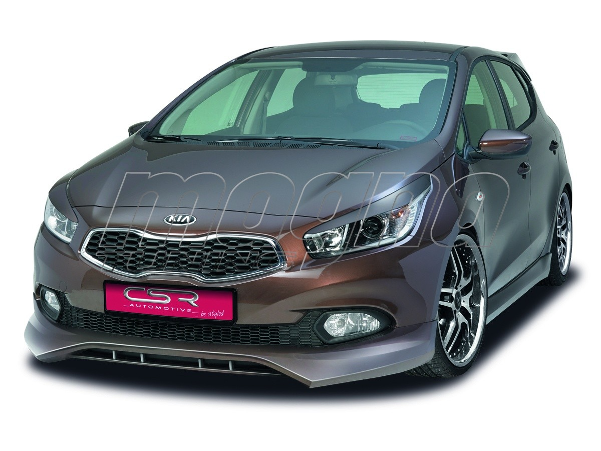 kia ceed mk2 newline front bumper extension. Black Bedroom Furniture Sets. Home Design Ideas