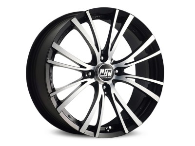 MSW Avantgarde MSW 20-4 Matt Black Full Polished Wheel