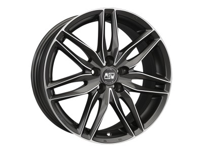 MSW Avantgarde MSW 24 Gun Metal Full Polished Wheel