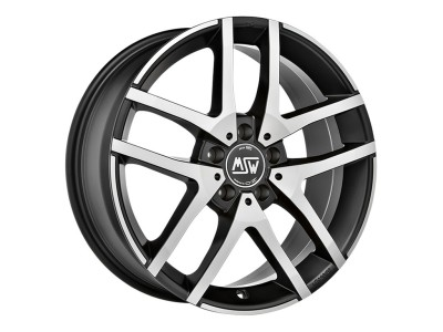 MSW Avantgarde MSW 28 Matt Black Full Polished Wheel