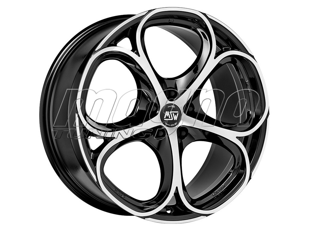 MSW Avantgarde MSW 82 Gloss Black Full Polished Wheel