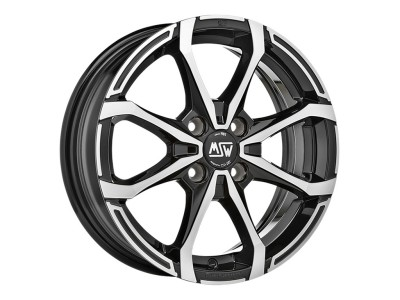 MSW Avantgarde MSW X4 Matt Black Full Polished Wheel