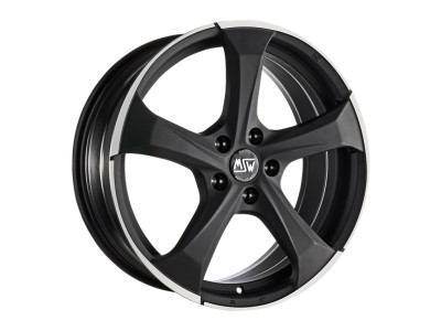 MSW Urban Cross MSW 47 Matt Dark Titanium Full Polished Wheel