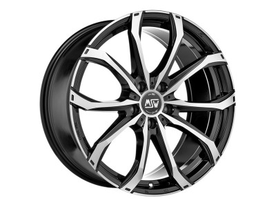 MSW Urban Cross MSW 48 Gloss Black Full Polished Wheel