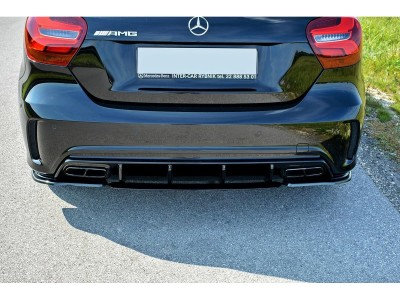Mercedes A-Class W176 AMG MX Rear Bumper Extensions