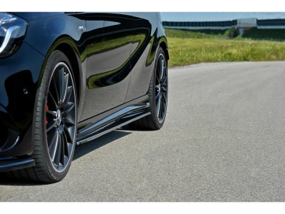 Mercedes A-Class W176 AMG MX Side Skirt Extensions