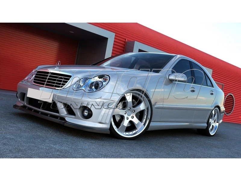 mercedes c class w203 amg style body kit. Black Bedroom Furniture Sets. Home Design Ideas