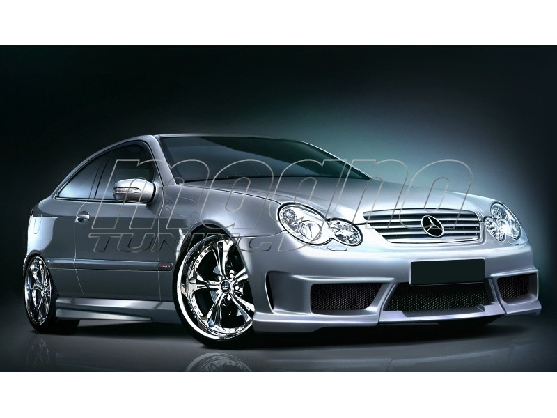 mercedes c class w203 coupe street body kit. Black Bedroom Furniture Sets. Home Design Ideas