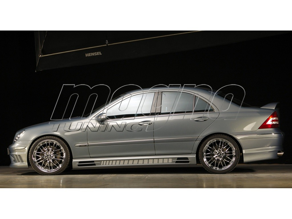 mercedes c class w203 vortex side skirts. Black Bedroom Furniture Sets. Home Design Ideas