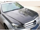 Mercedes C-Class W204 Facelift C63-Style Carbon Fiber Hood