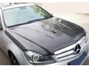 Mercedes C-Class W204 Facelift Capota C63-Style Fibra De Carbon