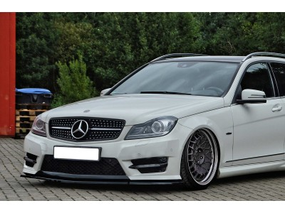 Mercedes C-Class W204 Facelift Iris Front Bumper Extension