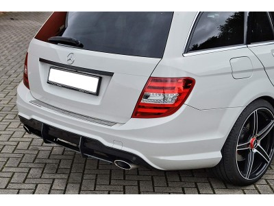 Mercedes C-Class W204 Facelift Iris Rear Bumper Extension