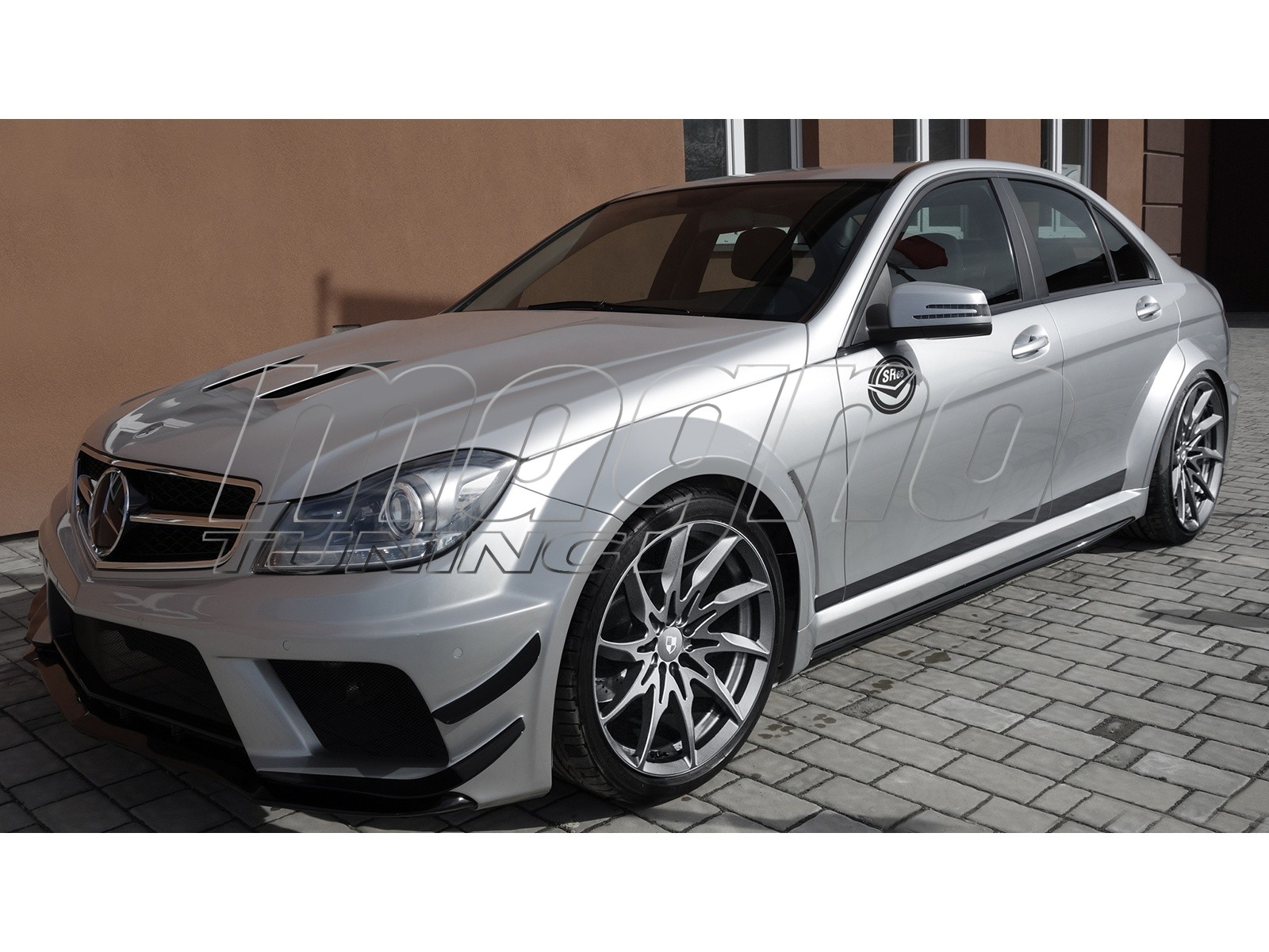 mercedes c class w204 facelift sonic wide body kit
