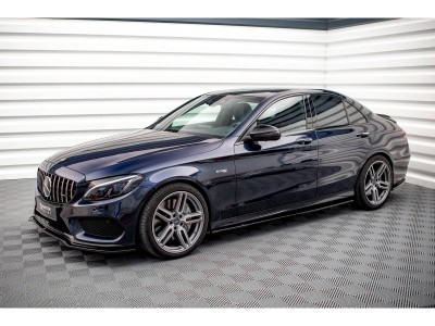 Mercedes C-Class W205 C43 AMG Master Side Skirt Extensions