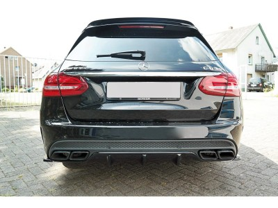 Mercedes C-Class W205 C63 AMG Matrix Rear Bumper Extension