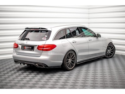 Mercedes C-Class W205 Monor Side Skirt Extensions