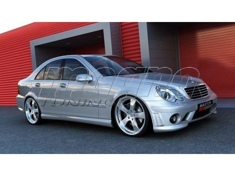 mercedes c klasse w203 amg style body kit. Black Bedroom Furniture Sets. Home Design Ideas