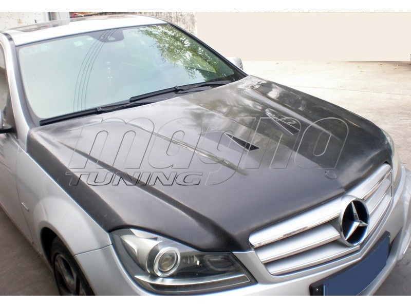 mercedes c klasse w204 facelift c63 style carbon motorhaube. Black Bedroom Furniture Sets. Home Design Ideas