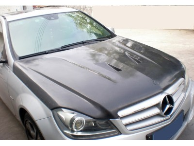 Mercedes C-Klasse W204 Facelift C63-Style Carbon Motorhaube