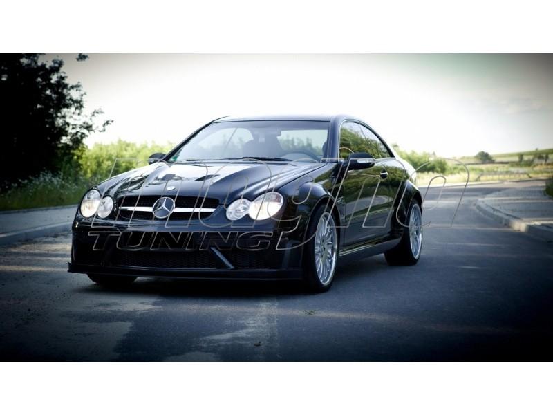 Mercedes clk w209 wide body kit black series look for Mercedes benz clk black series body kit