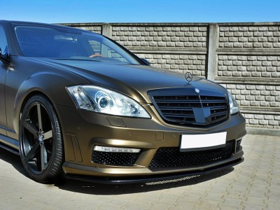 Mercedes S-Class W221 AMG M-Style Front Bumper Extension