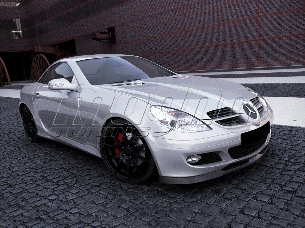 mercedes slk r171 mx front bumper extension. Black Bedroom Furniture Sets. Home Design Ideas