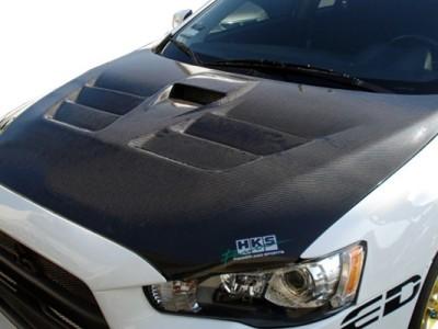 Mitsubishi Lancer EVO 10 Estima Carbon Motorhaube