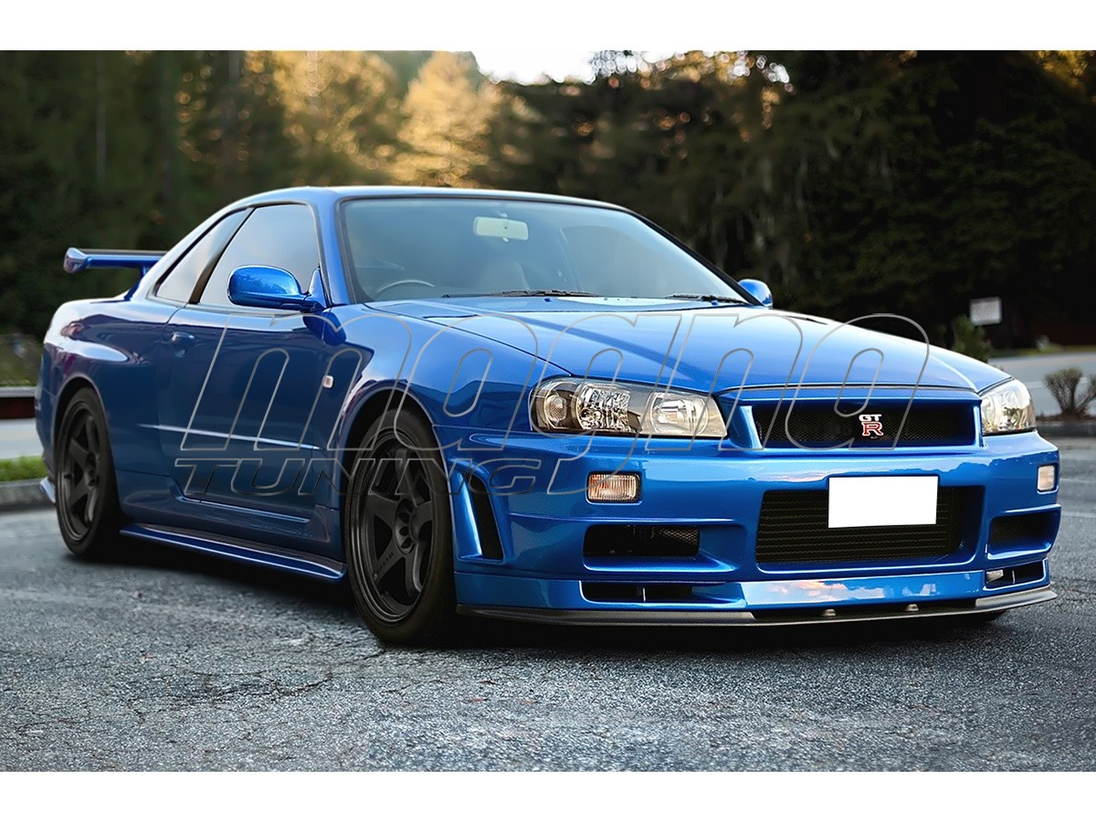 Nissan skyline r34 gtt gtr look wide body kit for Nissan gtr bodykit