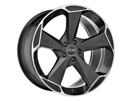 OZ All Terrain Aspen HLT Matt Black Diamond Cut Wheel