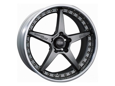 OZ Atelier Forged Crono III Matt Graphite Silver Wheel