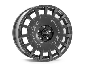 OZ Sport Rally Dark Graphite Silver Lettering Wheel