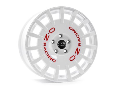 OZ Sport Rally Race White Red Lettering Wheel