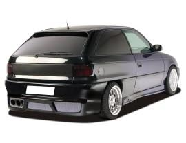 Opel Astra F Bara Spate GTX-Race cu Suport Placa Inmatriculare